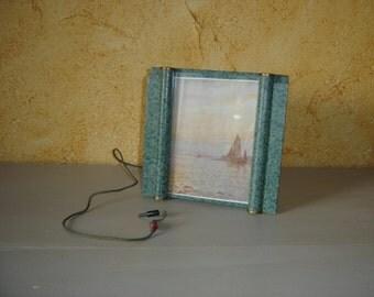 Cadre antenne TSF REVCLAIR pour poste radio. Bateau. Mer. Vintage.  France