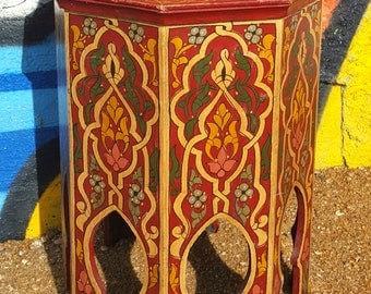 Tazewakt Red Moroccan End Table