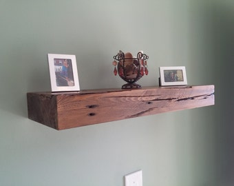 Weathered floating shelf