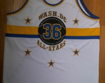 SBA All-STARS jersey, Official Washington All Stars Streetball t-shirt, vintage basketball shirt, of 90s hip-hop clothing, size 56 XXXL 3XL