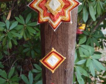 Hand woven Mandala mobile - God's eye