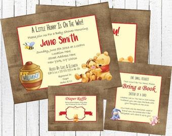 Winnie the Pooh Baby Shower Invitation Set - Gender Neutral