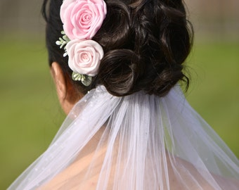 Wedding hairpiece / bridal hairpin / bride hair accessories / Wedding hair accessory / flower pin / handmade flower hairpin / hair comb