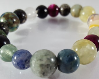 Assorted Jasper Beaded Bracelet