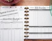 FINANCE Letter Happy Planner Budget Inserts, Circa Planner Finance Kit, Dave Ramsey Budget Page, Debt Snowball, Create 365 Planner Refills
