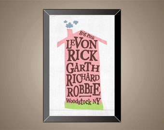 THE BAND Inspired | Poster | Print | 11 x 17 | Big Pink | Levon Helm | Bob Dylan | Woodstock