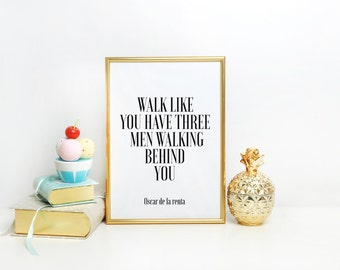 Home decor Fashion print Wall art Inspirational quote Quote Printable Gift for her Gift women Gift Women Gift Idea Fashion Print Printable