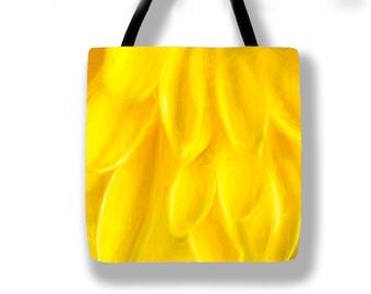 Yellow Petals Tote Bag