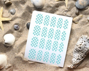 Mermaid Scale Glitter Vinyl Nail Decals, Pattern Nail Decal