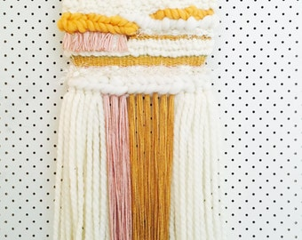 Wall Art Weaving Mustard/Blush