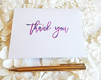 Ink blended Thank You Card, Greeting Card