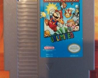 Super Mario Bros. Unlimited Reproduction NES Cartridge w/ Dust Cover