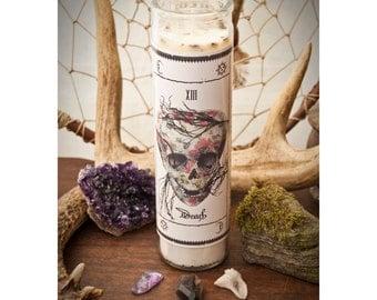SALE! Tarot Candle - Death Arcana Candle - Herbs, Essential Oils