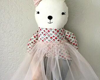 Ballerina Bunny Fabric Doll
