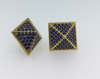 Designer Pyramid Stud Earrings