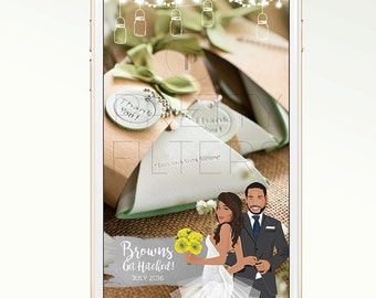 DIY Snapchat GeoFilter for Wedding | Personalised cartoon fairy lights | We Customize for You | Perfect Gift