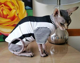 T-Shirt for cats/cat T-shirt/Cat sweater with sleeve / pet sweater /Sphynx cats apparel/ Sphynx cats cloth/cats apparel/T-shirt for dog/