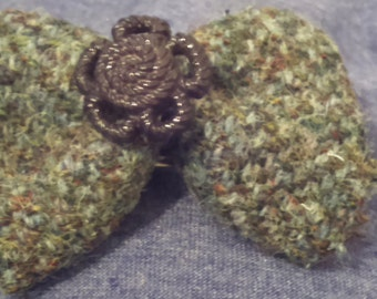 Harris Tweed Hair Clip