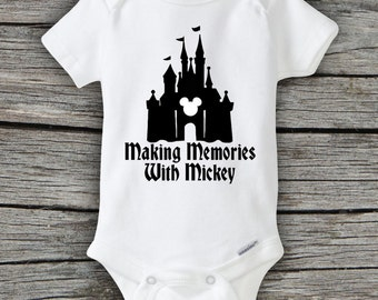 Memories with Mickey Mouse Disney Mickey Mouse Disneyland Castle Onesie