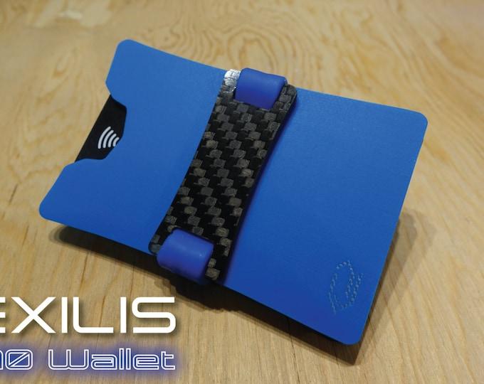 Sky Blue Dual-Plate G10 Wallet, Slim Wallet, Minimalist Wallet, Money Clip, Credit Card Holder, EXILIS Wallet