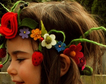 Flower wreath, hair, fairy Crown
