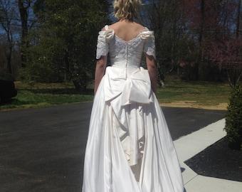 Silk Chiffon Wedding Dress