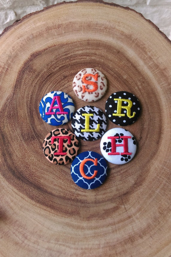 Monogram Badge Reel Cover for Scout and Remy Interchangeable Badge Reels