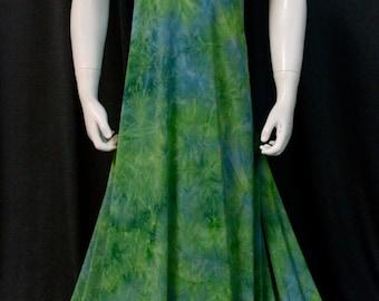Green and Blue Tye Dye Lycra