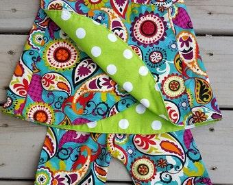"THE ""SOPHIA"" crossover back capri set  infant boutique  open back  ruffle pants  pinafore dress"