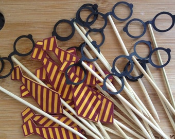 24 Harry Potter Cupcake Toppers      Hogwarts Cupcake Toppers   Harry Potter Birthday