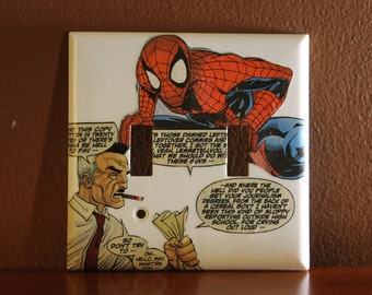Spiderman Double Switchplate Cover