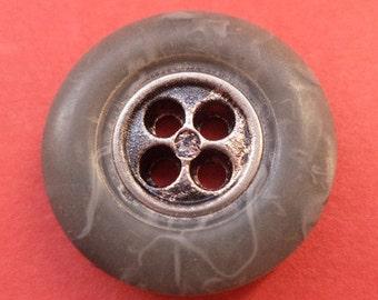12 dark grey buttons grey 20mm (1798)