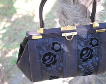 black velvet bag 1930s