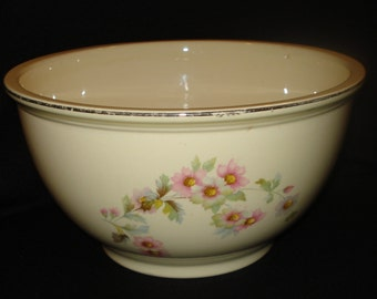 Homer Laughlin Large Mixing Bowl Fluffy Rose Virginia Rose