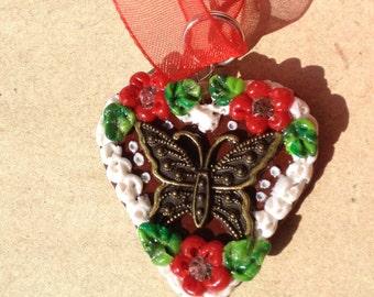 "Necklace ""Butterfly"" red Oktoberfest"