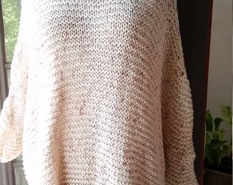 Loose Hand-Knitted Multi-Use Sweater