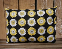 Mix & Match Pillow Cover-Decorative Handmade Item-Floral, Black, Yellow, White Flower Pattern