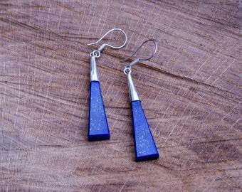 Abstract Stylish Lapis Lazuli Earrings