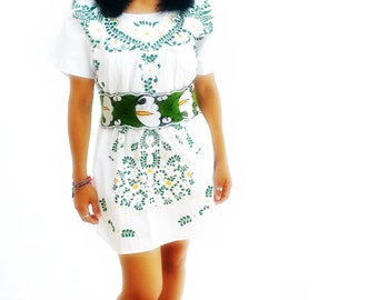 Bohemian Beauty  Floral Mexican Embroidered  Dress