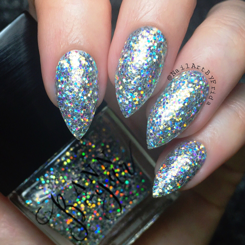OPUS Silver Holo Glitter Nail Polish Holographic Nails