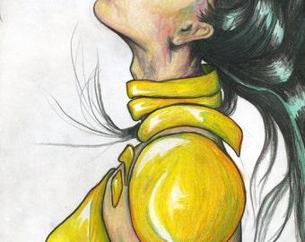 Fine Art Golden Goddess Warrior. Prints