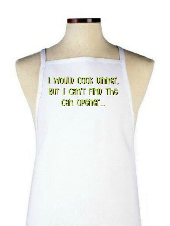 items similar to can 39 t find the can opener apron custom apron personalized apron chef apron. Black Bedroom Furniture Sets. Home Design Ideas