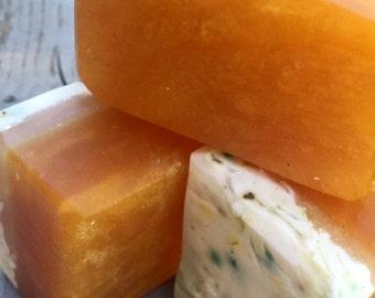 Orange Marmalade with Calendula Glycerine  All Natural Soap