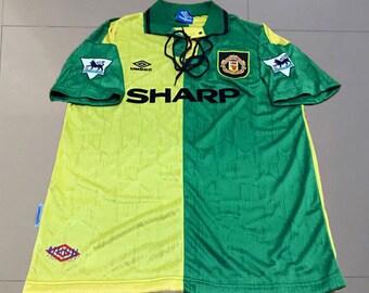 Cantona #7 Manchester United 1992/93 Newton Heath Retro Shirt Soccer Jersey S M L XL