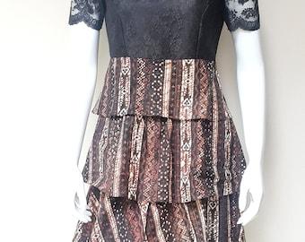 Lace Batik Handmade Dress