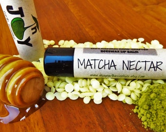 Matcha Green Tea Lip Balm.MATCHA NECTAR Lip Balm.Matcha Lip Balm.Green Tea Lip Balm.Beeswax Lip Balm.Matcha Chapstick.Green Tea Chapstick