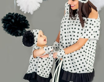 Mommy And Me Outfit, Matching Mother Daughter Outfit, Mother Daughter Hats, Matching Hats, White Beanie Hat, Flower Accessories, Chic Hat