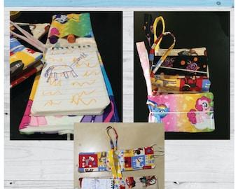 Notebook, Wallet, Mini Book Cover, Sewing Pattern, Art case, PDF Pattern