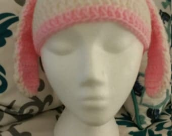 Bunny Ear Crocheted Hat
