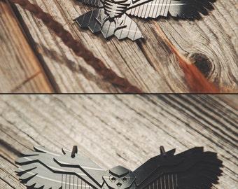 Owl - vinyl record necklace